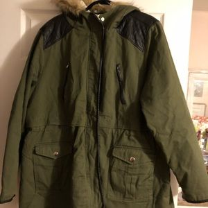Plus size green utility jacket, 3X from Torrid
